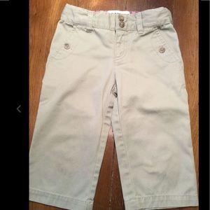 Tan/Khaki Capri Girls' Pants Cherokee Sz 5 VGUC